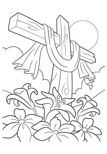 Cross Coloring Sheets Are One Of The Best Ways To Get Your Child Acquainted With Http Easter Coloring Pages Crayola Coloring Pages Easter Coloring Sheets