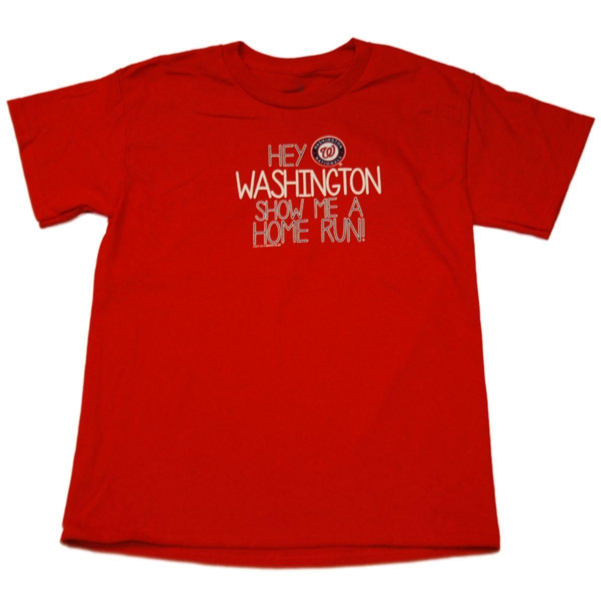 Washington Nationals SAAG Youth Boys Red Home Run Cotton T-Shirt