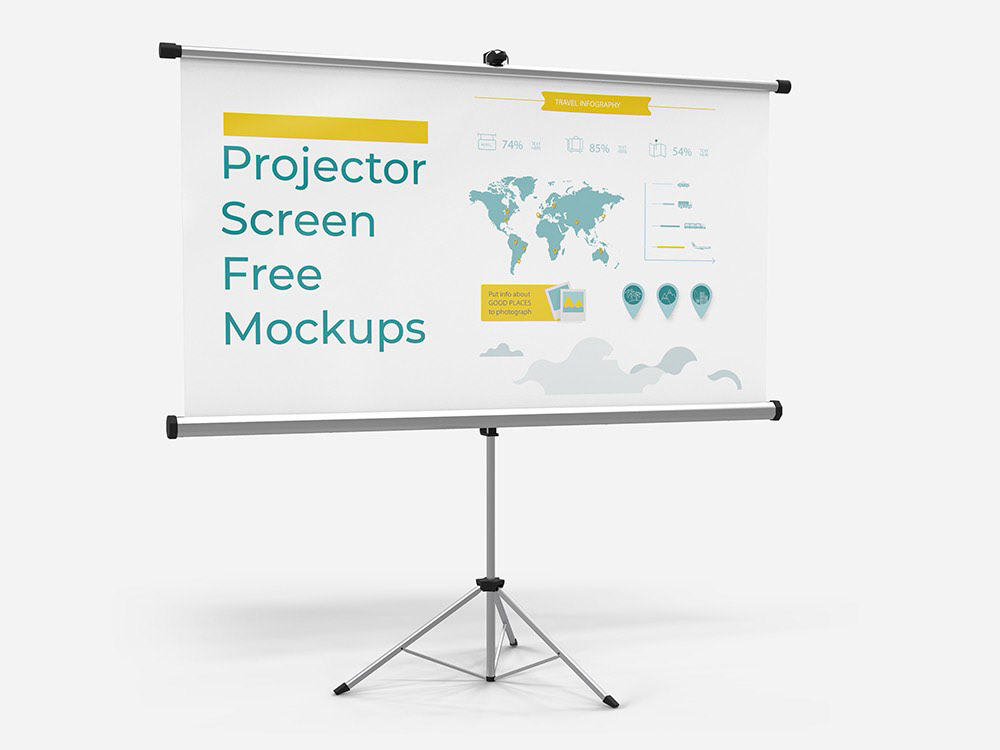 Free Download Projector Screen Mockups On Behance Projector Screen Projector Screen