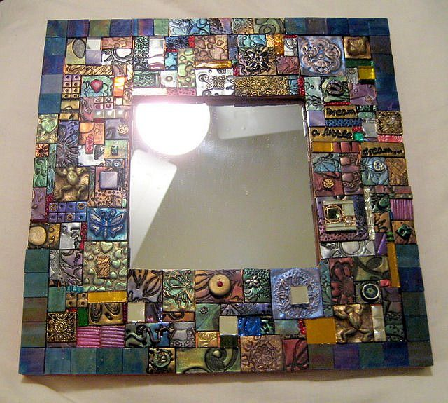 Mosaic Mirror by DSDesigns (Debra Sutton), via Flickr