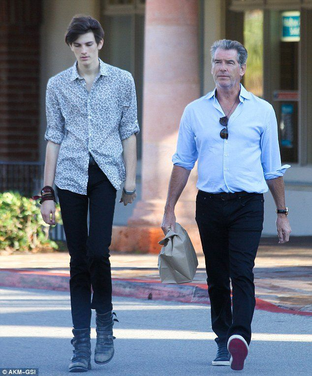 Former 007 Actor Pierce Brosnan S Model Son Dylan 11