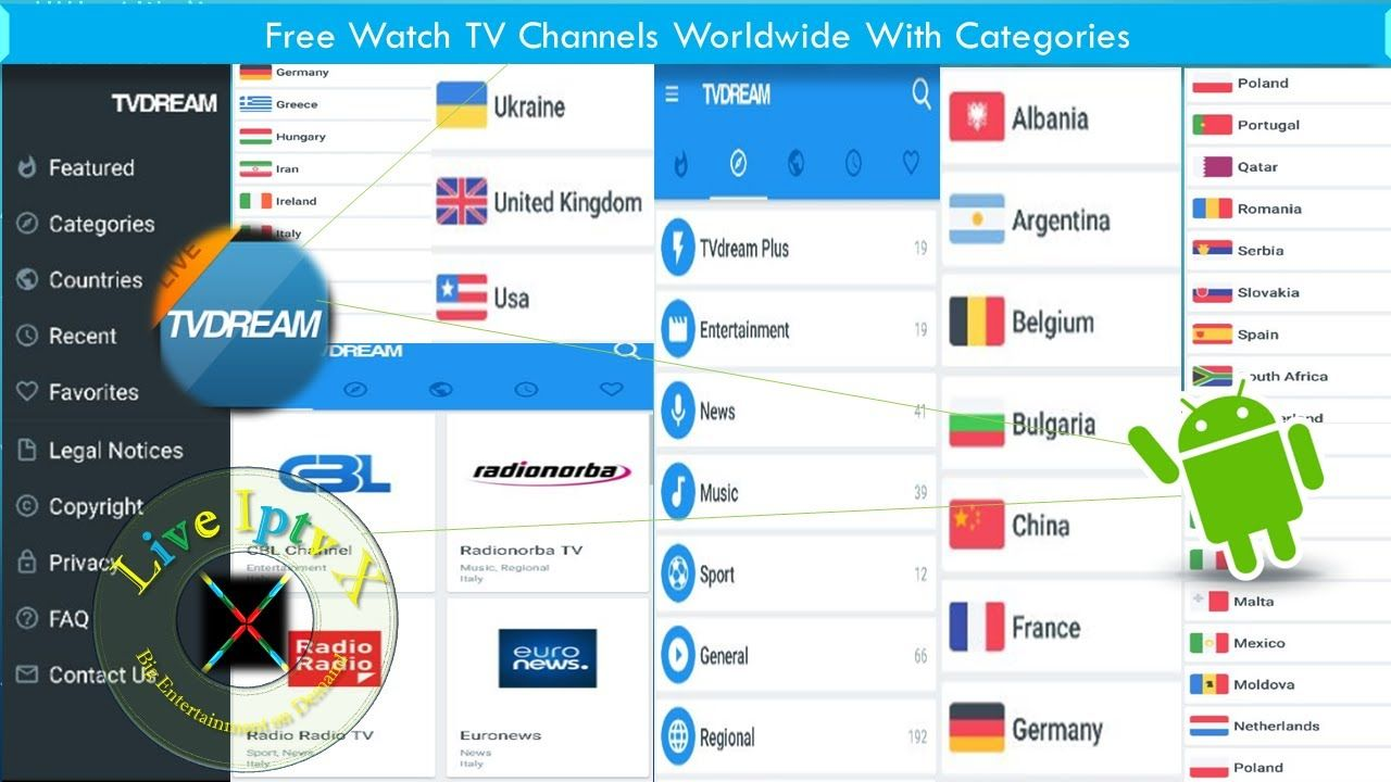 Live TV Apk For Free Watch Country Wise Live TV Channels