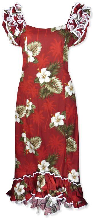 7672186addc Mea aloha Lava Hawaiian Dress