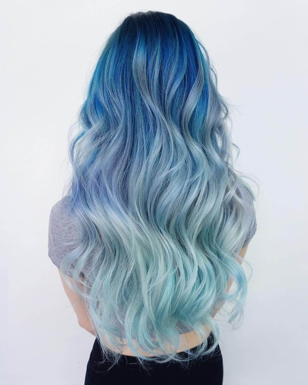 Super Cool Blue Ombre Hairstyles Blue ombre Ombre and Hair