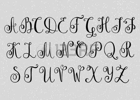 Populair Afbeeldingsresultaat voor lettertypes alfabet sierlijk   lettering &DQ53