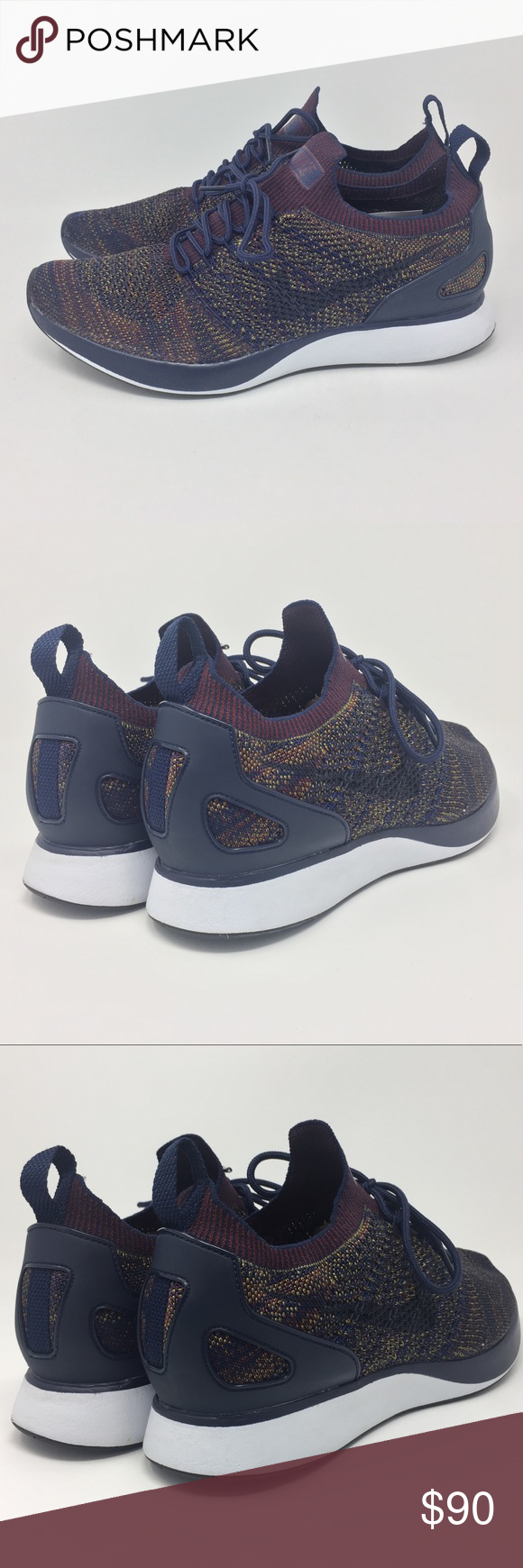 3d44f434e4e5 Nike Air Zoom Mariah Flyknit Racer Brand new. Nike Air Zoom Mariah Flyknit  Men s size 10.5. College Navy Bordeaux Desert Moss in color. Snug