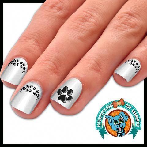 perfect paw print nail art decal pack nailart  paw print