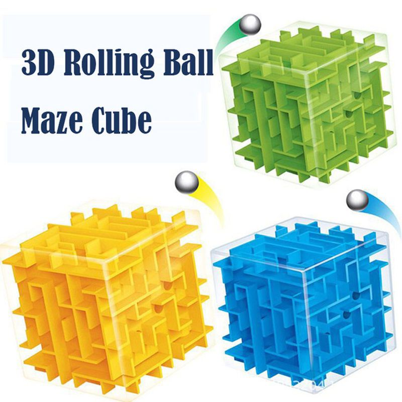Toys & Hobbies Puzzles & Games 5pcs Puzzle Maze Cube Toy Brain Game Challenge Educational Toys