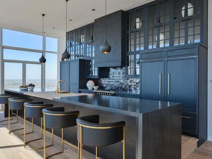 Calvin Leather Bar Stool Interior Design Kitchen Contemporary
