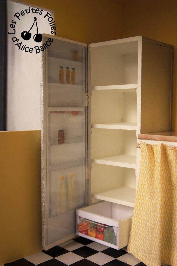 alice balice diy maison de barbie le frigo ouvert