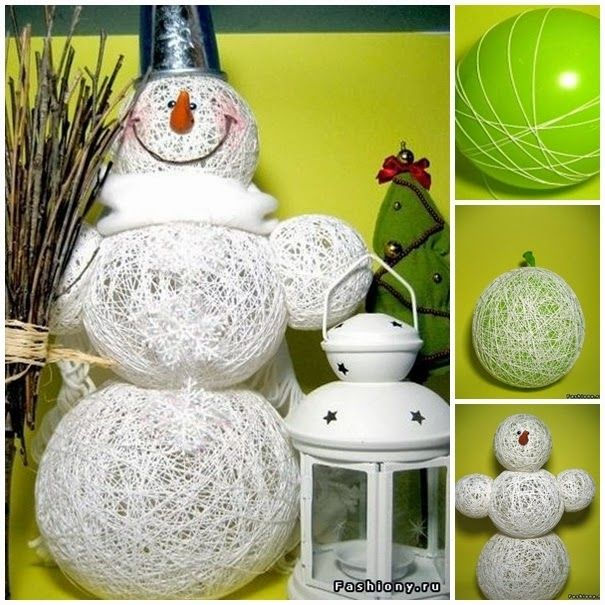 How to make a snowman from balloons and yarn diy christmas diy how to make a snowman from balloons and yarn diy christmas diy crafts do it yourself solutioingenieria Gallery