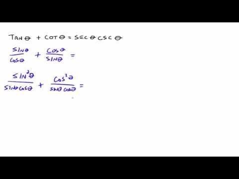 Verifying Trig Identities - YouTube Trigonometry Review Test #2