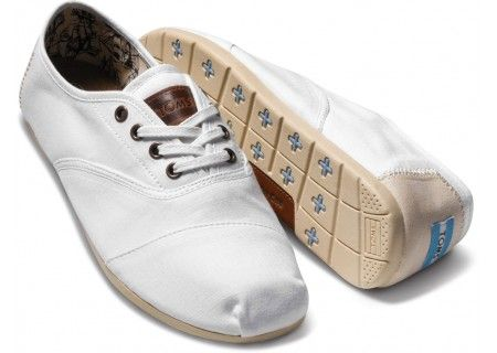 White TOMS with laces!