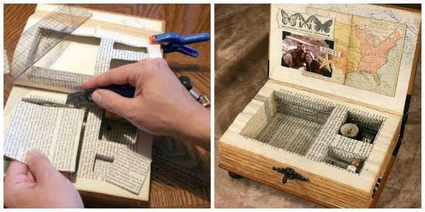 15 mani res de recycler vos vieux livres enveloppe personnalis e couronnes de porte et discret. Black Bedroom Furniture Sets. Home Design Ideas