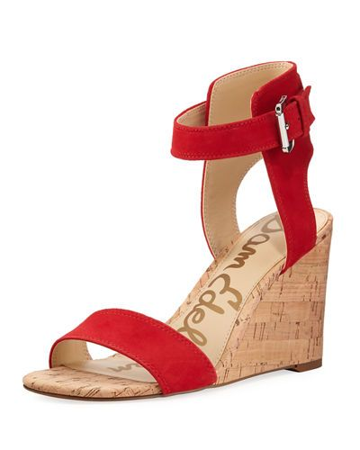 Sam Edelman Willow Wedge Sandal Unique Red Wedge