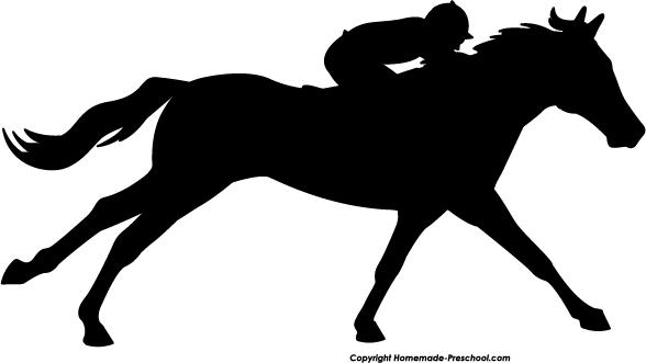 Running Horse Silhouette Jockey