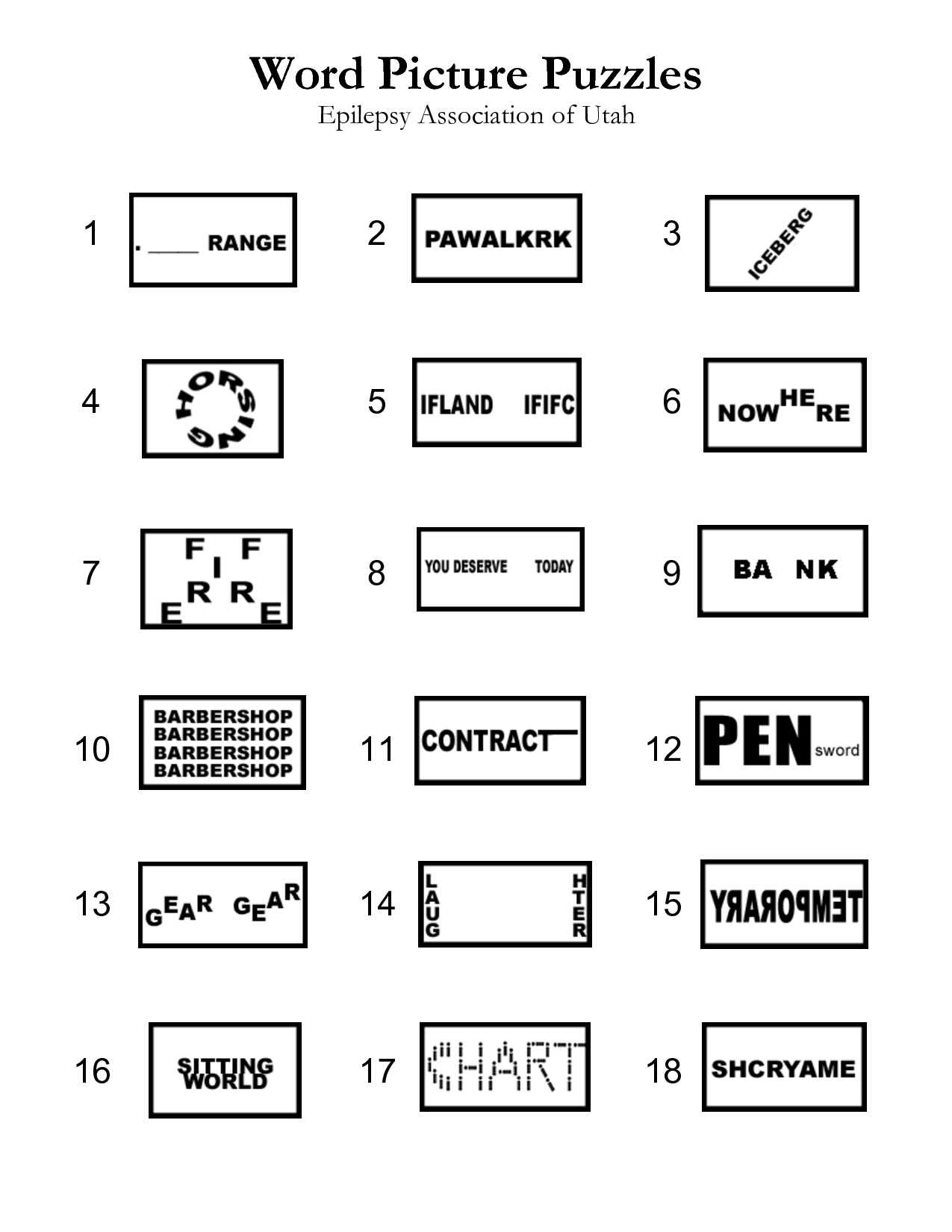 hight resolution of Word Puzzles   Brain teasers for kids