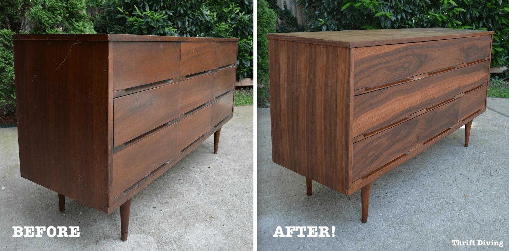 Mid Century Modern Dresser Makeover Stripped And Refinished