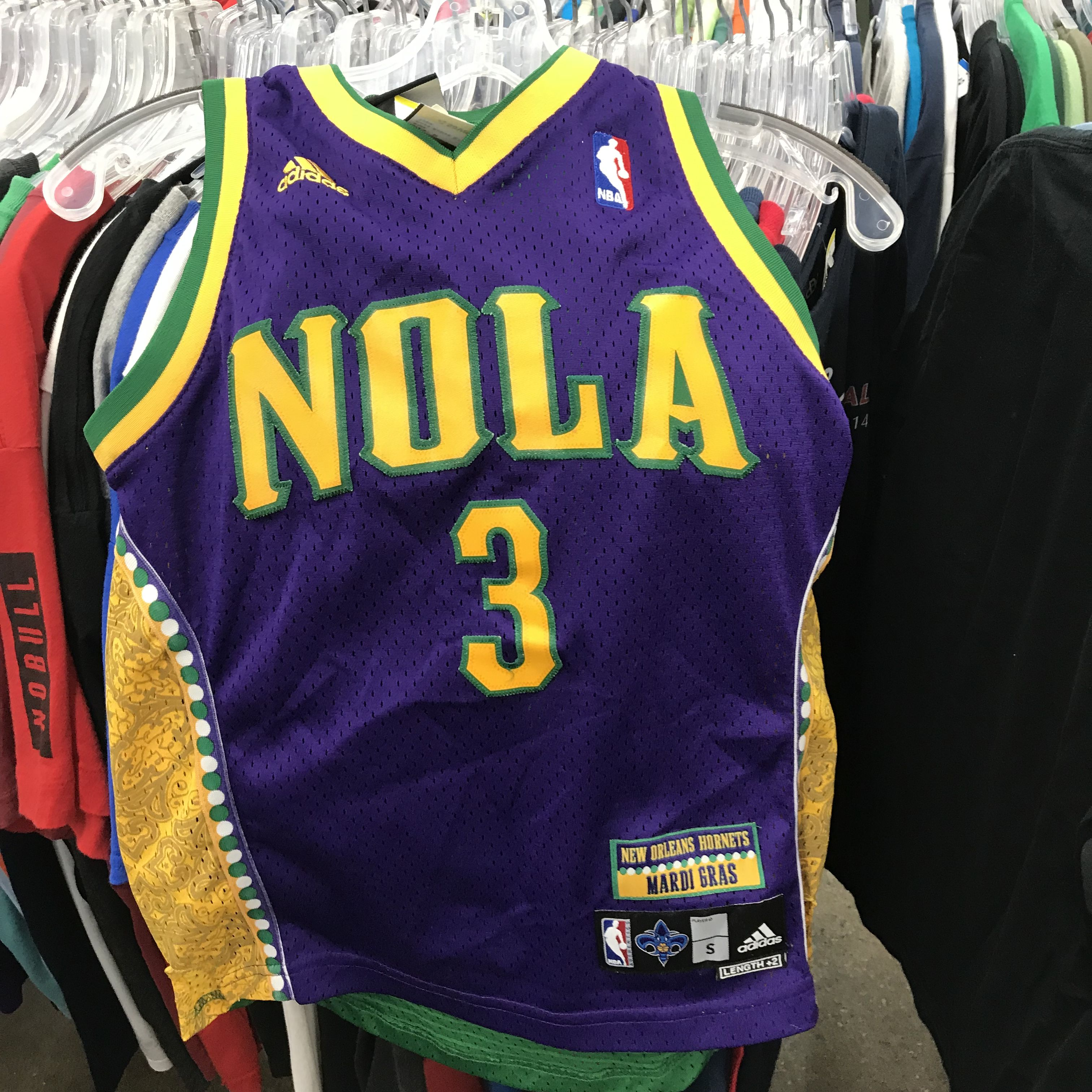 ee93c2057 Chris Paul Mardi Gras Jersey  adidas  nba  champion  vintage