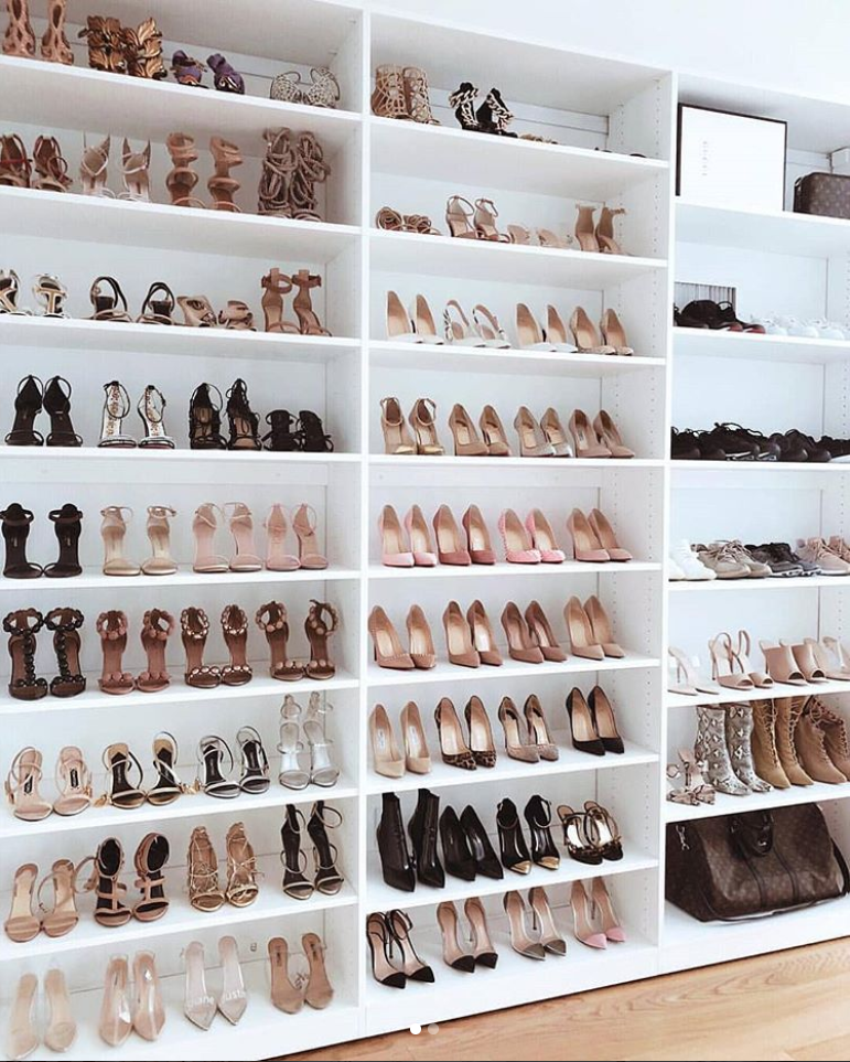 Floor To Ceiling Shoe Storage Walk In Closet Design Shoe Room Closet Bedroom