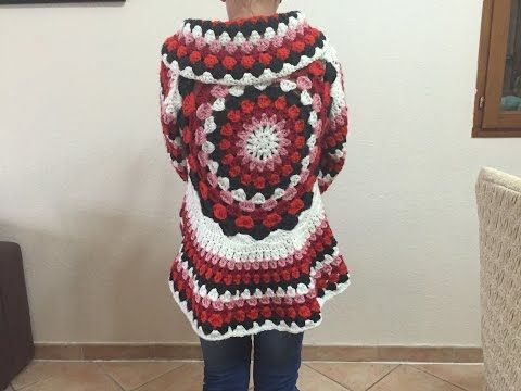 Cómo tejer chaqueta con mandala a crochet | Crochet y Dos agujas ...