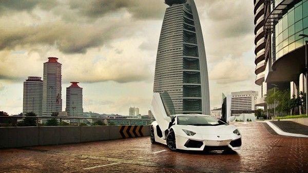 White Lamborghini Aventador Open Door My Favorite Car White