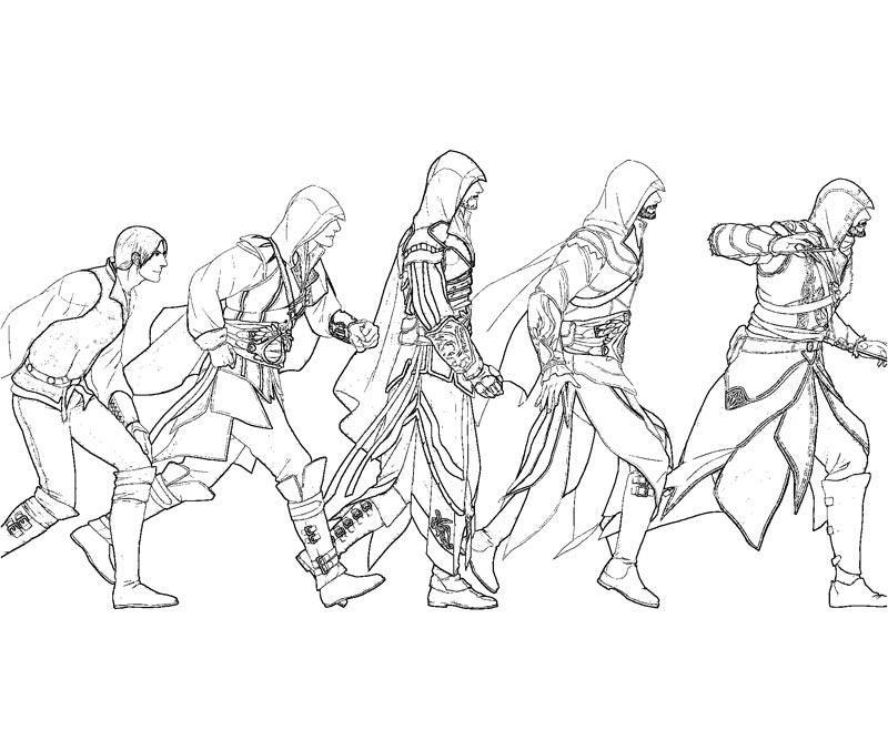 unity assassin  coloriage assassin