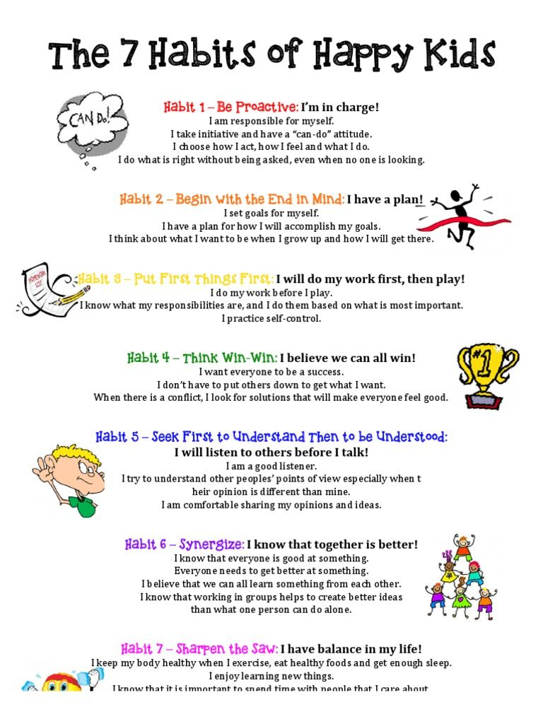 The 7 Habits Of Happy Kids Free Download As Pdf File Pdf