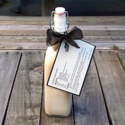 Homemade Baileys, It tastes better than Bailey's, makes an amazing hostess gift and couldn't be easier to make. This is a gotta make!