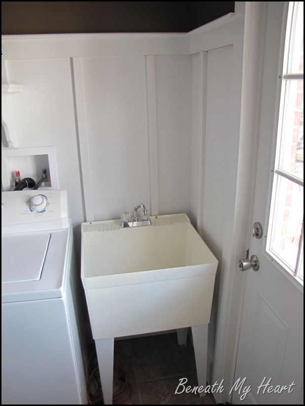 Dressing Up A Mud Room Sink Laundry Room Sink Basement