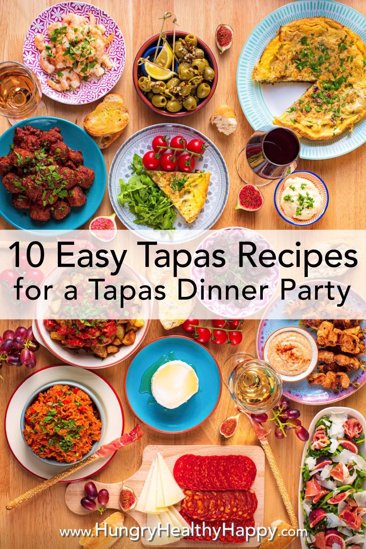 10 Easy Tapas Recipes For A Tapas Dinner Party Tapas Dinner Tapas Recipes Vegetarian Tapas