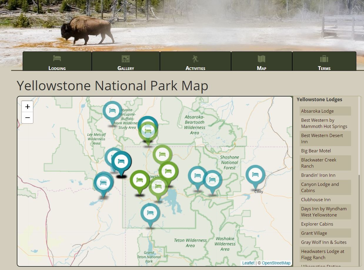 US Park Lodges Yellowstone Yellowstone, National parks