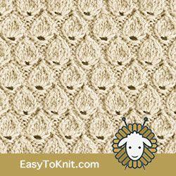 #HowToKnit Teardrop stitch pattern