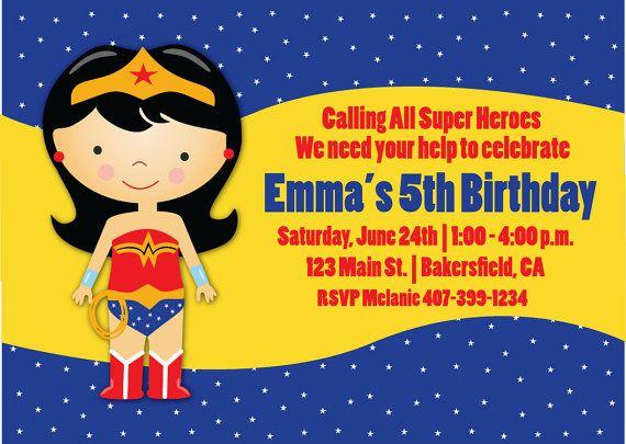 Wonder Woman Birthday Card Template