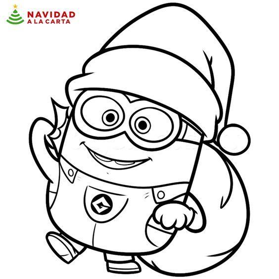 Estos 10 Dibujos De Navidad Para Colorear Haran Pasar Un Buen Rato A Los Ninos Y Daran Rienda S Dibujo Navidad Para Colorear Minions Dibujos Dibujos De Navidad