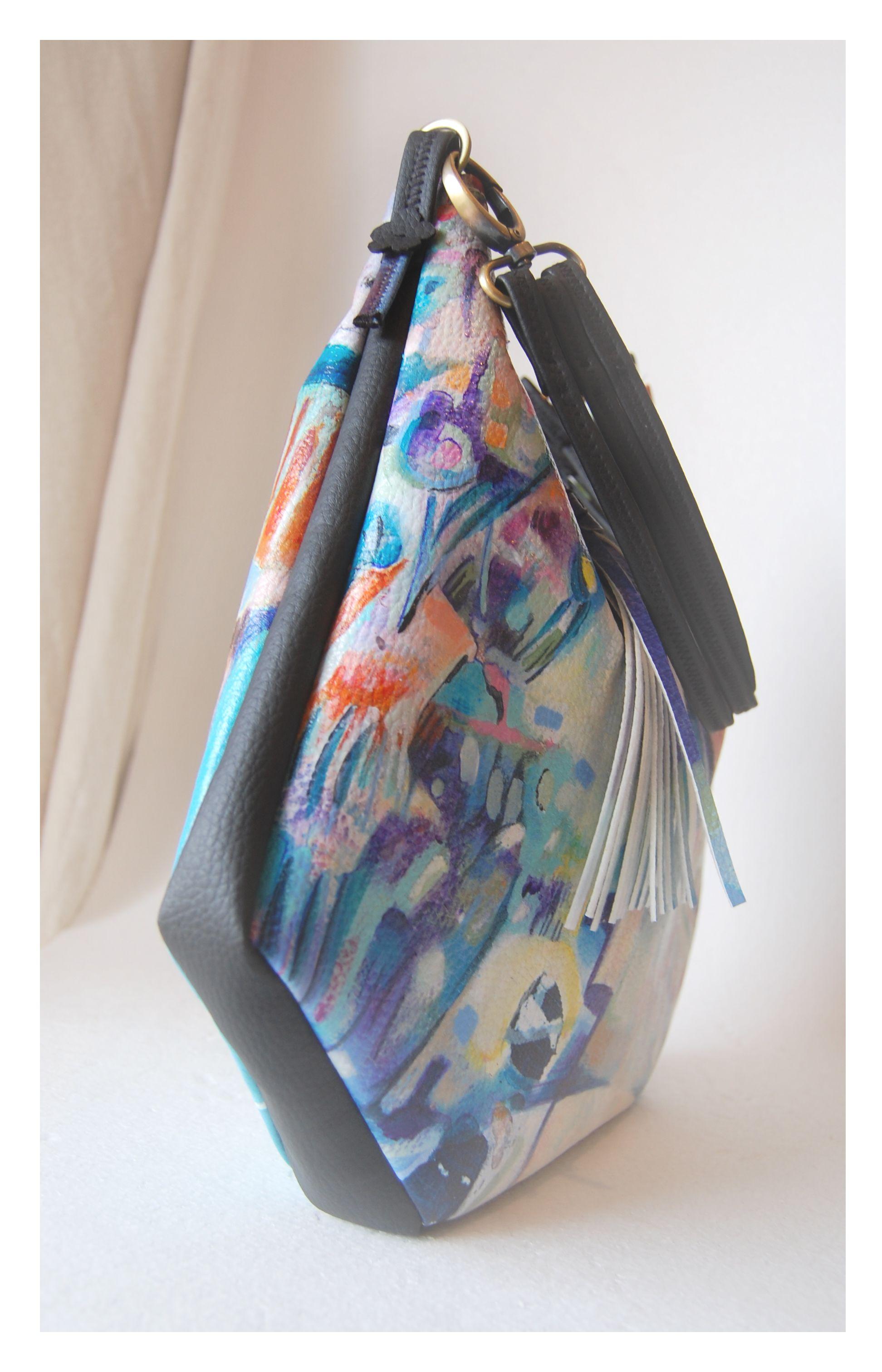Handmade Handpainted Bag Por 4ªpiel
