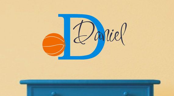 Basketball Wall Decal with Personalized Name by LCvinyldesigns ...