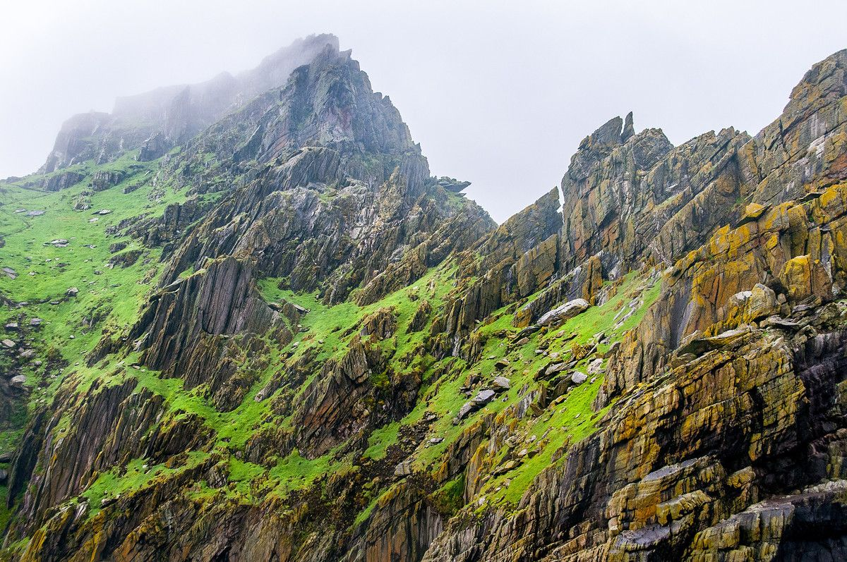 The Jagged Cliffs of Skellig Michael, Ireland