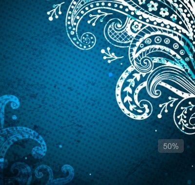 elegant blue floral patterns background vector 04 | 'brand