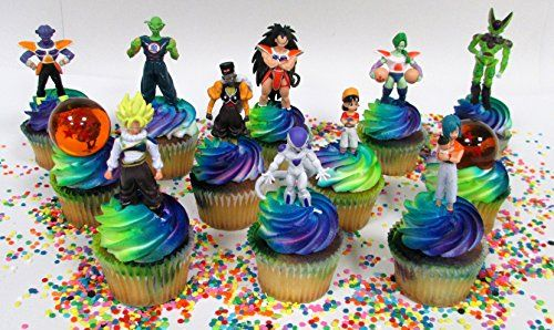 DRAGON BALL Z Themed Birthday Cupcake Topper Featuring Dr toms