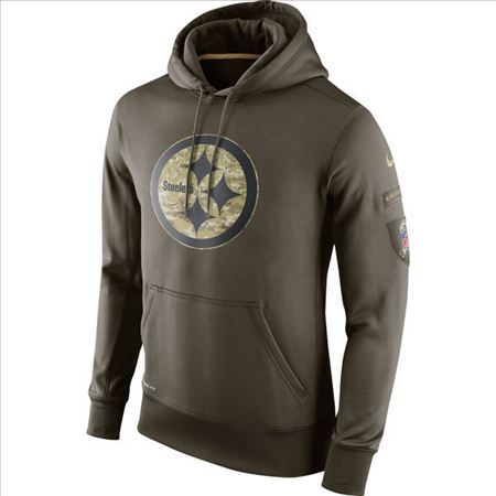check out 4822e fe3e2 Nike Pittsburgh Steelers Army Green Salute To Service Hoodie ...