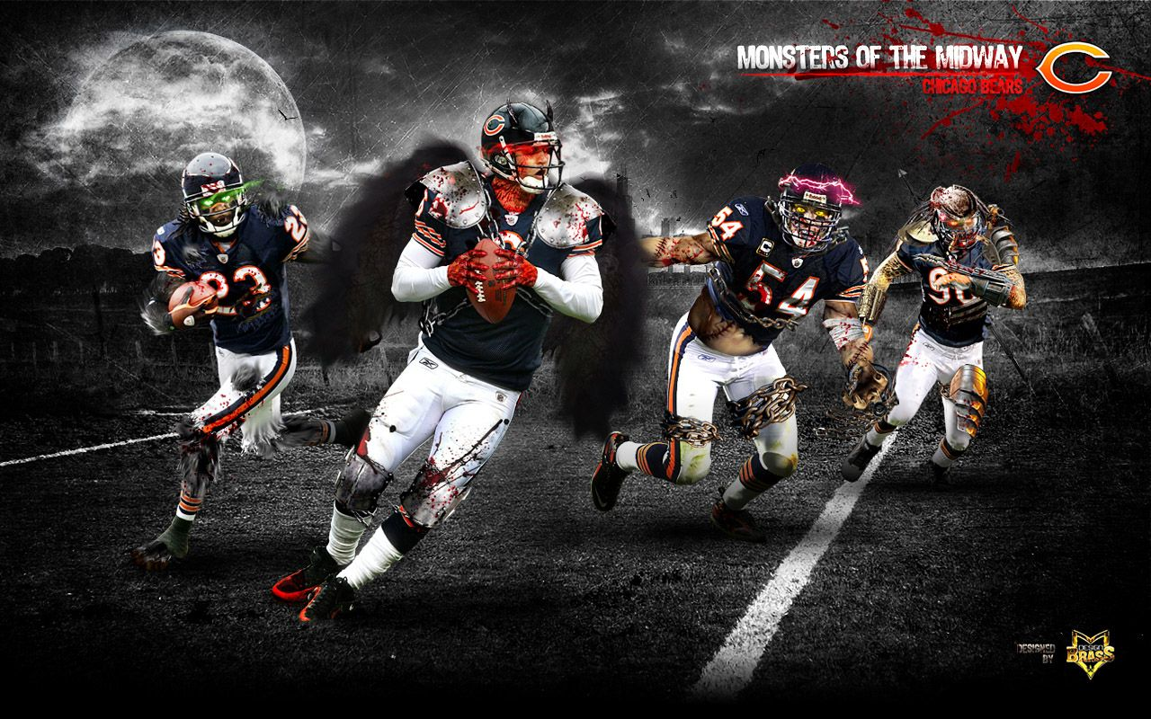 Chicago Bears Iphone X Wallpaper History Chicago Bears Wallpaper Chicago Bears Monsters