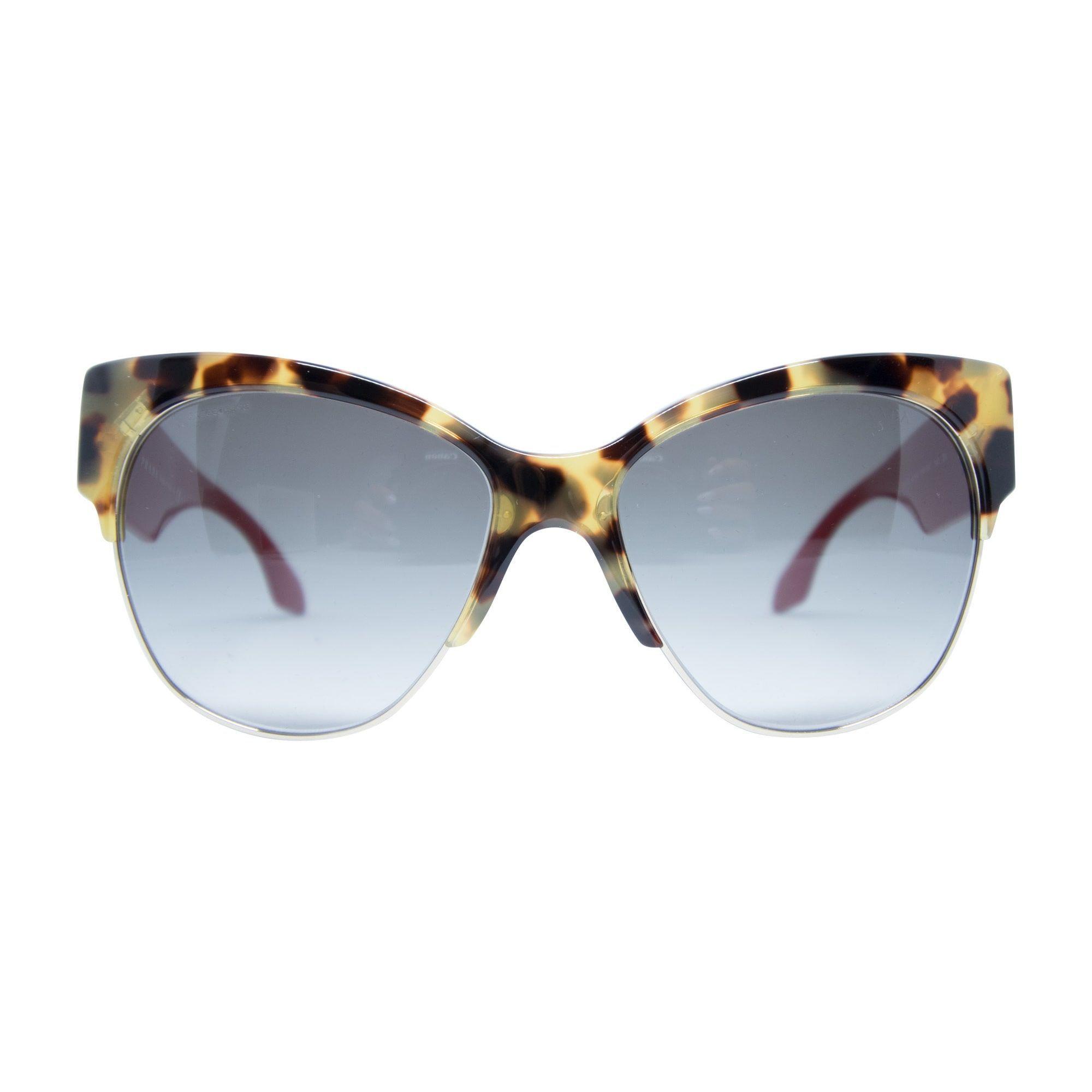 5c48fc8c7ae4 Prada SPR 11R 7SO-0A7 Women's Medium Havana Frame Grey Lens Sunglasses