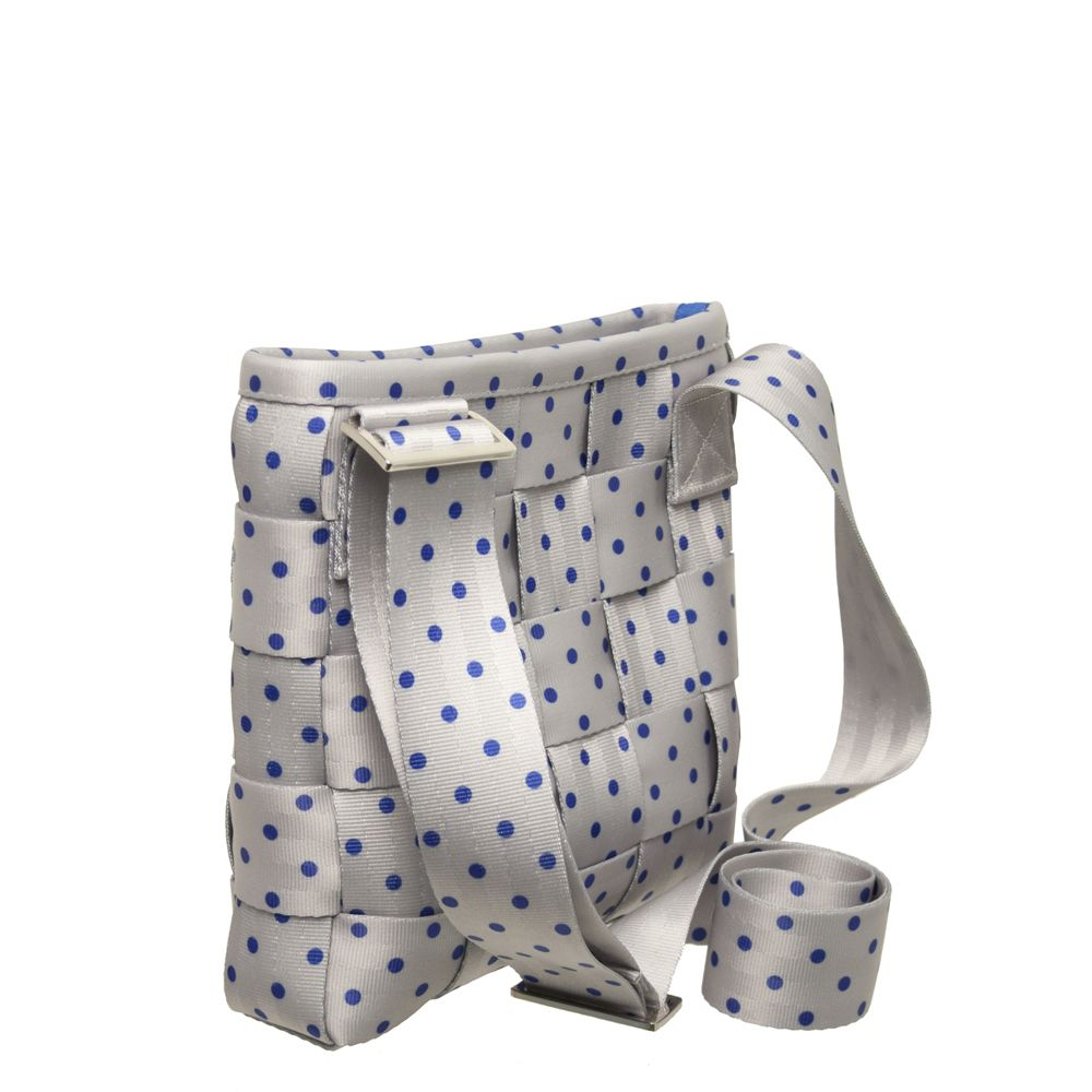 Harveys Seatbelt Mini Messenger Cross Body Cobalt Blue Polka Dot