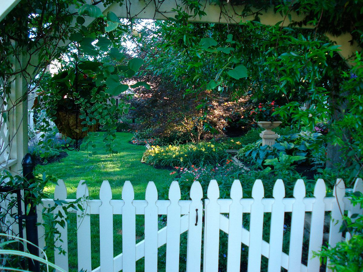 A Simple While Gate Invited You Into This Lush Garden. Read More: Http:
