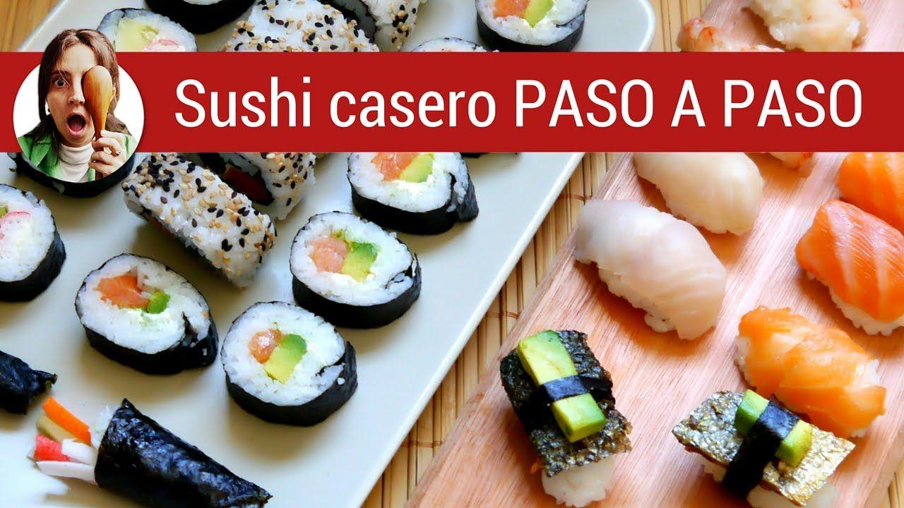 C mo hacer sushi casero paso a paso varios tipos for Como hacer arroz para sushi