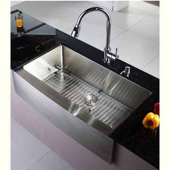 Kraus 36 Inch Farmhouse Single Bowl 16 Gauge Stainless Steel Kitchen Sink Kitchensou Farmhouse Sink Kitchen Stainless Steel Kitchen Sink Kitchen Sink Remodel