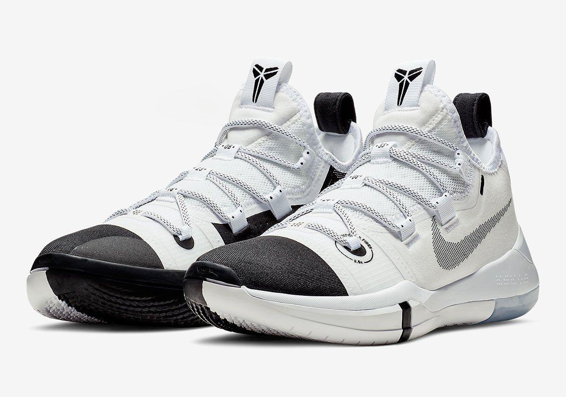 Nike Kobe Ad Black Toe Ar5515 100 Release Info White Basketball Shoes Sneakers Kobe Shoes