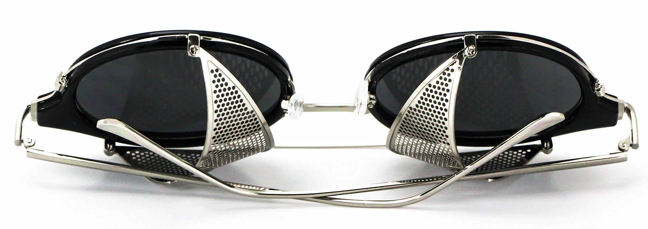 Elite sunglasses side shield steampunk vintage cool uv