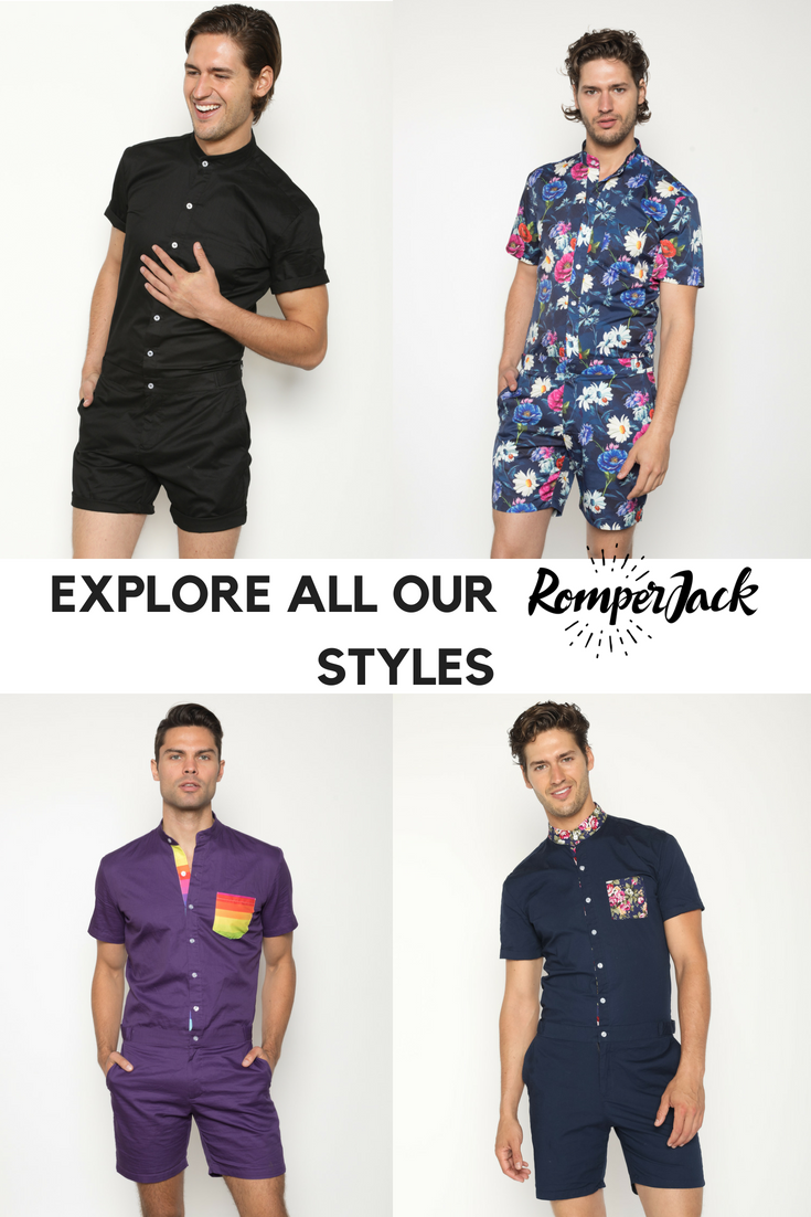 89059bbb99237 Stylish mens rompers with unique designs and perfect tapered fit ...